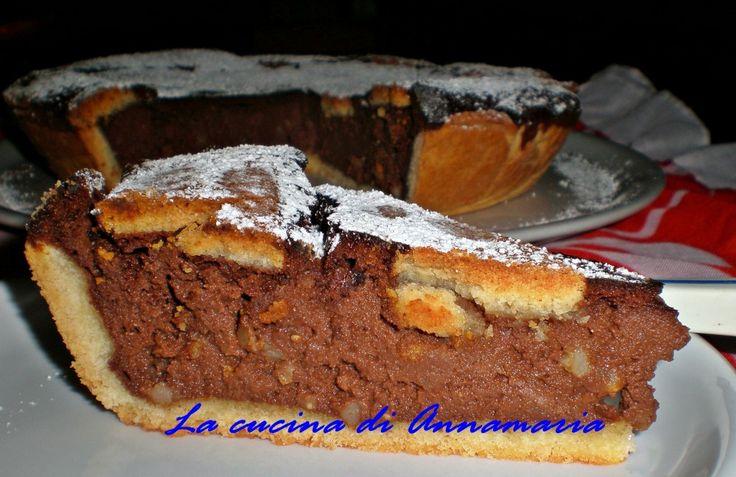 pastiera al cioccolato sal de riso: Desserts Recipes, Di Sal, Cioccolato Di, Sal De, Pastiera Al, Cioccolato Sal, Chocolate, Recipes From, De Riso