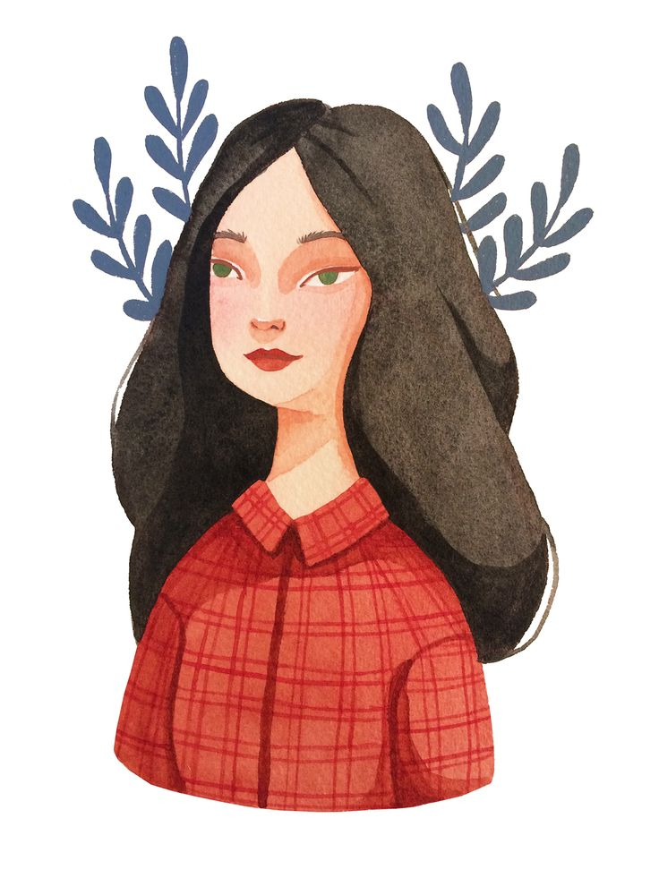 Self portrait and new social media icon by illustrator Laura Bernard