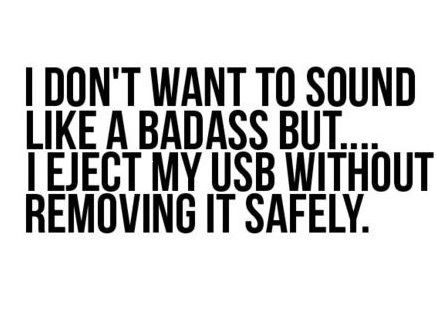 Such a rebel: Badass, Laughing, Geek Humor, Quotes, Funny Stuff, Computers Humor, Things, I'M, True Stories