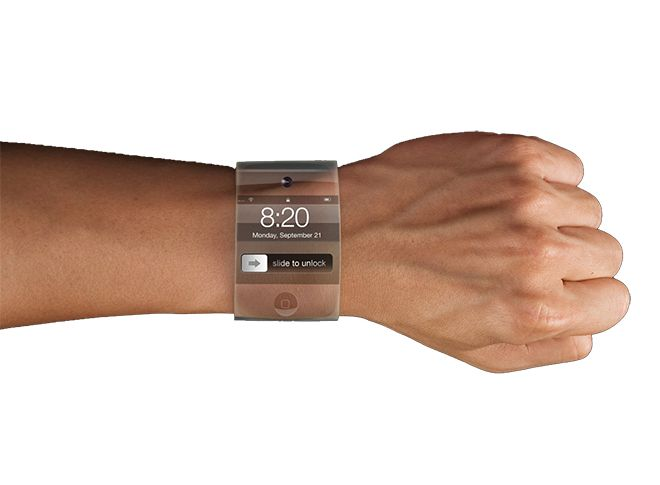 Apple is experimenting with wristwatch-like devices made of curved glass in its research and development labs