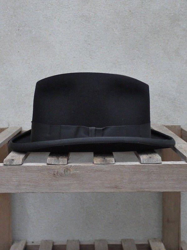 Christys' Black Homburg Hat