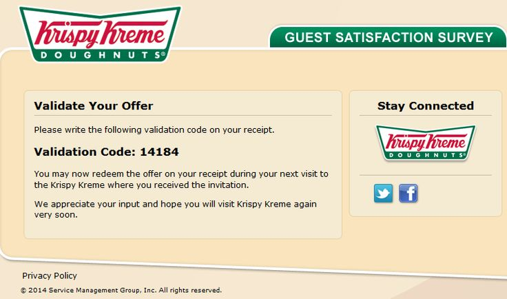 Fresh Krispy Kreme Validation Code HasnT Been Used Yet