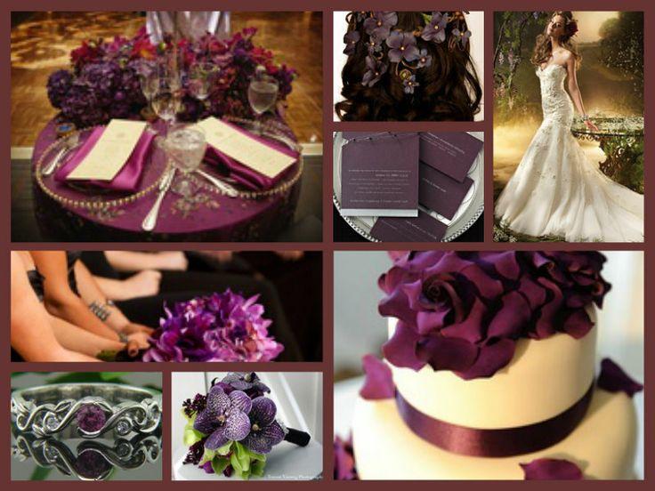 Blackberry theme wedding