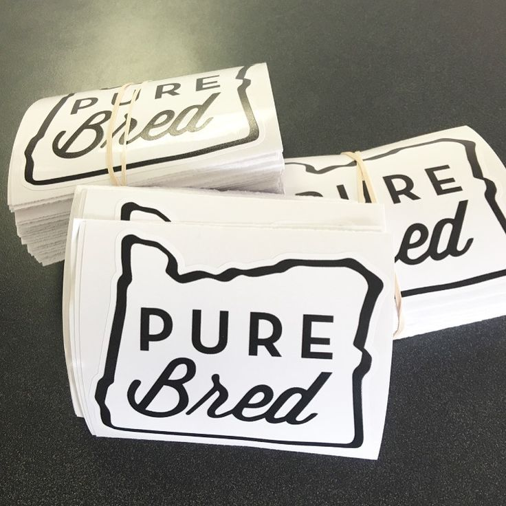 Purebred oregon vinyl sticker