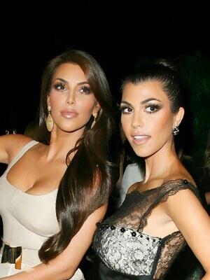 Kourtney and Kim kardashian makeup