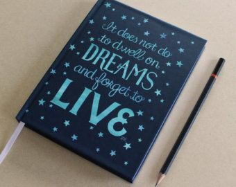 "Ships free! Small hardcover journal / notebook with Harry Potter inspired ""Dreams"" artwork"