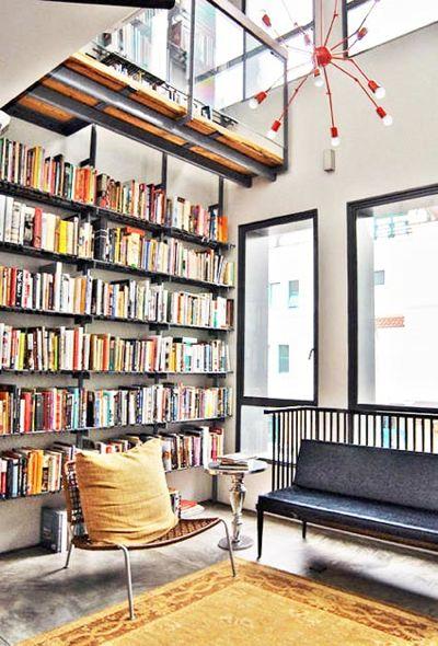 Library with mezzanine level