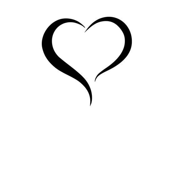 Open Heart 10 Instant Downloads In Black White 2 Svg 2 Png 2 Eps 2 Dxf 2 Jpg Digital Download Printing Software Instant Download Black And White