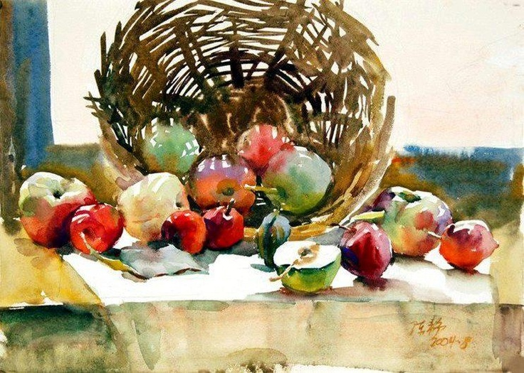 391 best images about watercolor on pinterest for Aquarelliste chinois