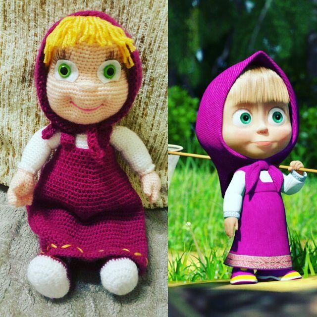 Amigurumi Tutorial Masha : #masha #bitti #amigurumi #handmade #crochet #hobi #ask by ...