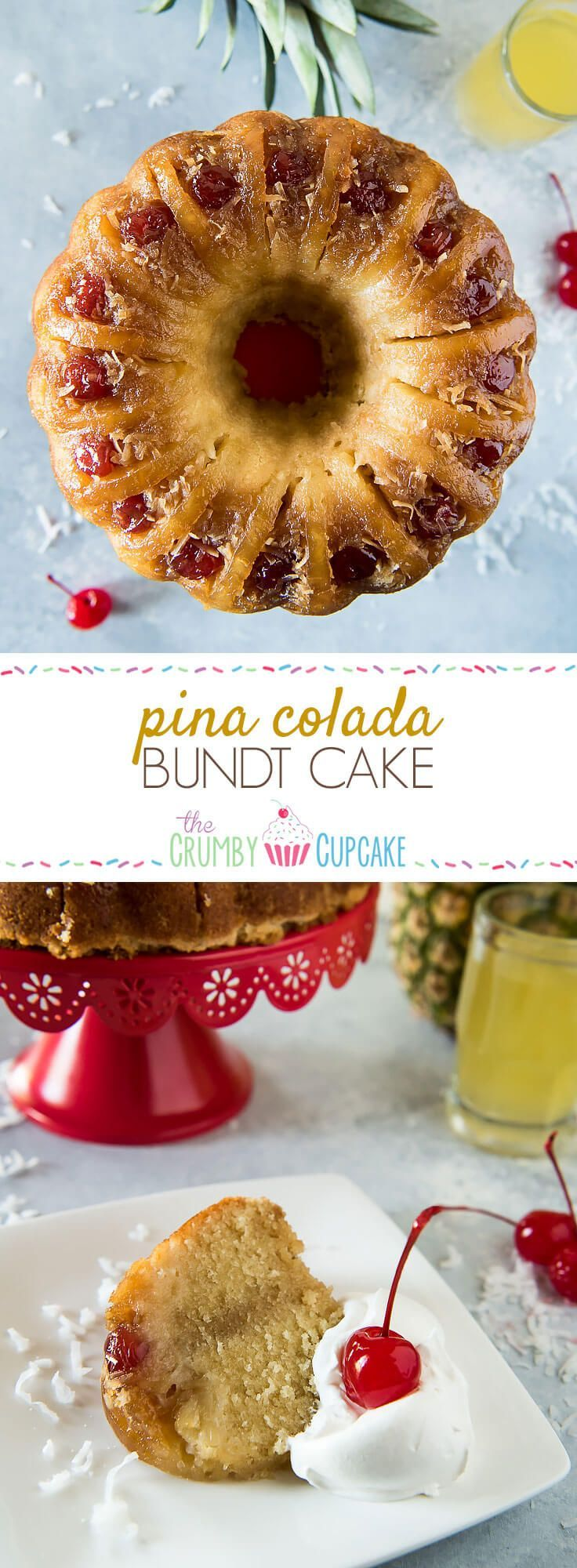 This Pina Colada Bundt Cake is unlike any you've had before! It takes the base of an old-fashioned cake & turns it into a moist, tropical confection!