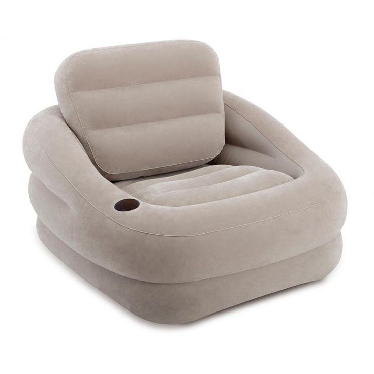Intex Accent Chair loungestoel grijs  Deze vrolijke taupe grijze loungestoel is geschikt om zowel buiten als binnen te gebruiken. De stoel heeft een handige bekerhouder. Het ventiel is extra wijd zodat de stoel snel op of leeg te blazen is. De rugleuning is eenvoudig weg te nemen.  EUR 34.95  Meer informatie