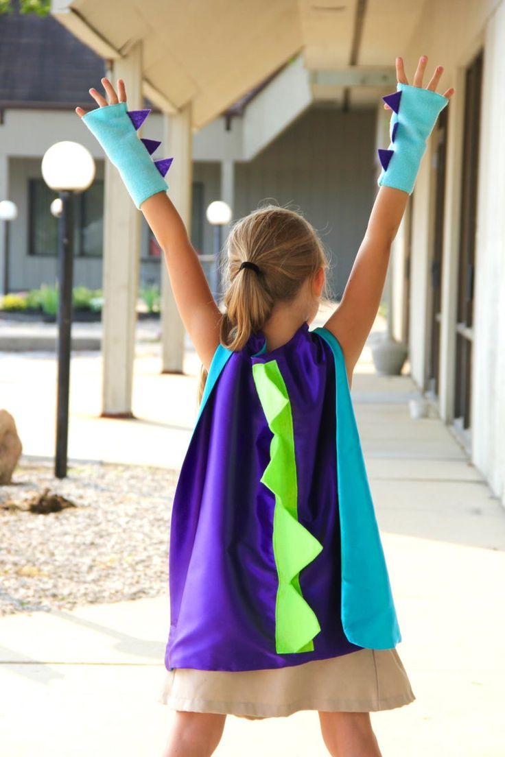 Niños Halloween DINOSAUR guantes sin dedos - Barcos rápido - Niños Halloween Dino traje ...