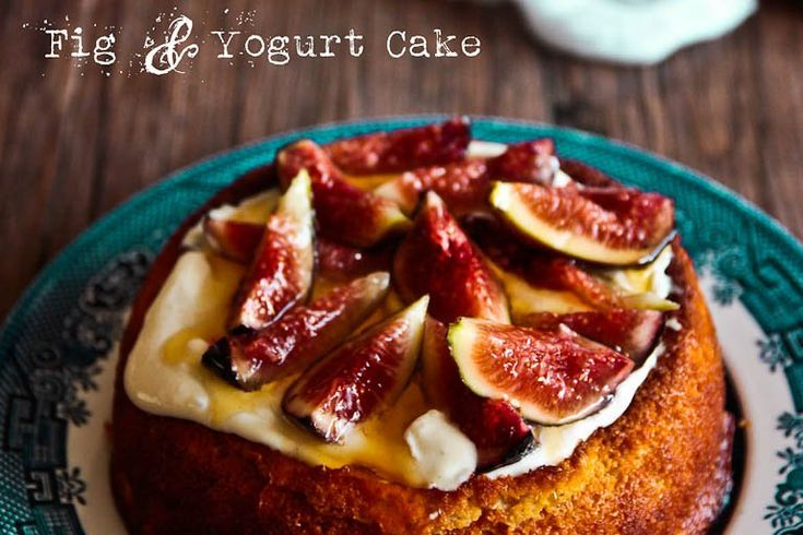 Luscious Fig & Yogurt Almond Cake (Gluten Free)