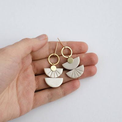 Contemporary polymer clay jewelry designs by …