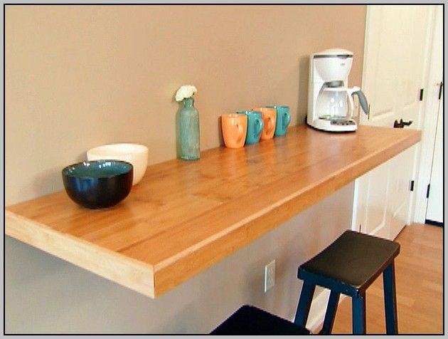 17 best ideas about wall mounted table on pinterest wall - Table bar murale ...