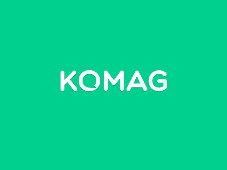 KOMAG logotype by Adam Hayek