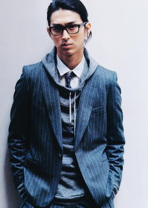 hair, glasses, tie, hoodie, blazer = sweet