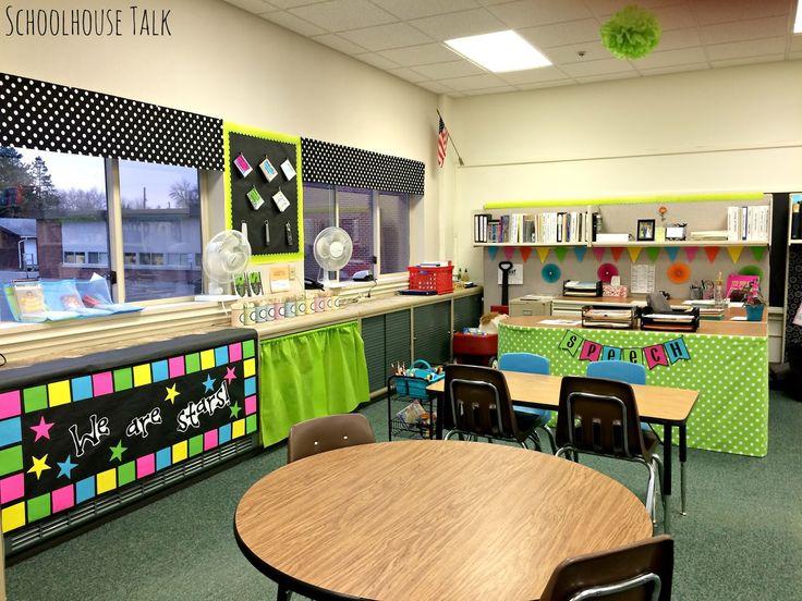 Classroom Window Decor ~ Schoolhouse talk a second speech therapy room tour