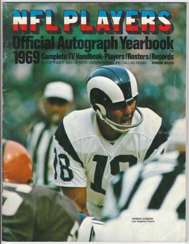 NFL Players 1969 Official Autograph Yearbook: 1969, VG+ ...