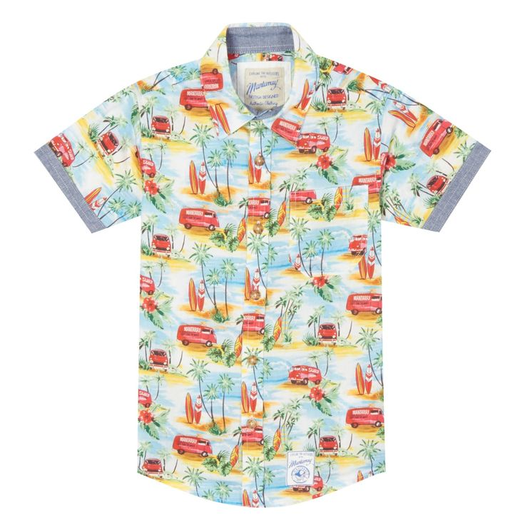 This multi-coloured shirt from Mantaray will brighten up a boy s everyday…