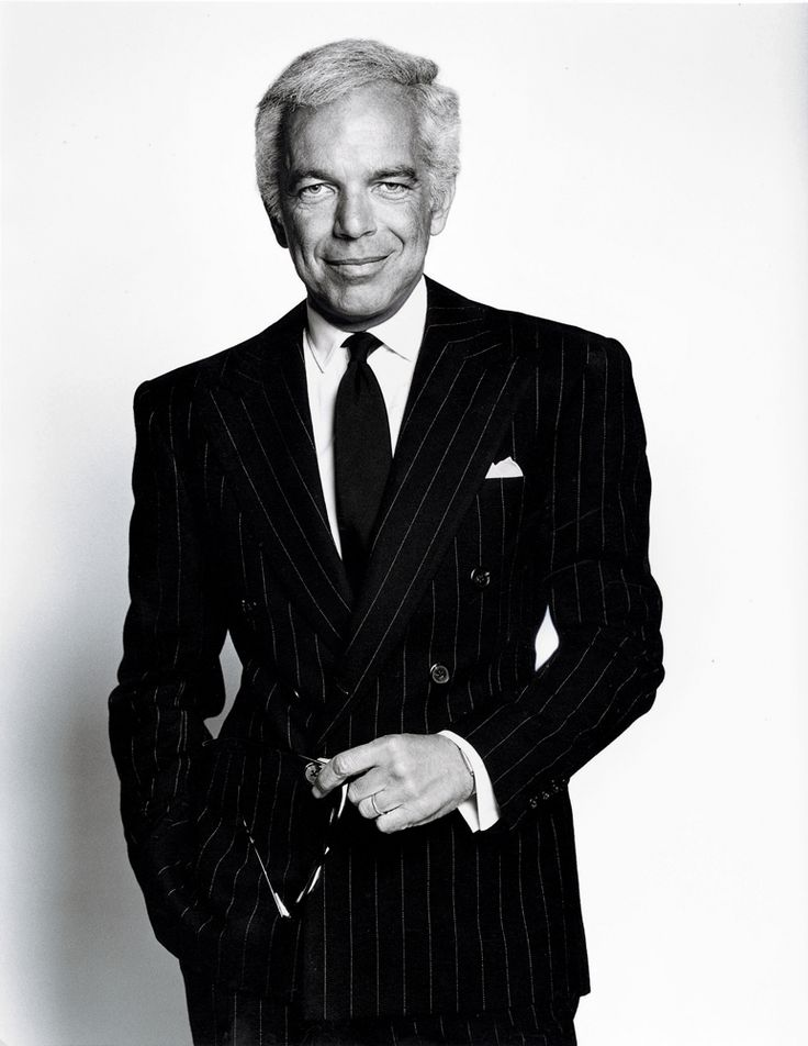 Ralph Lauren (born Ralph Lipschitz, October 14, 1939) is an American fashion designer and business executive; best known for his Polo Ralph Lauren clothing brand. Description from pinterest.com.