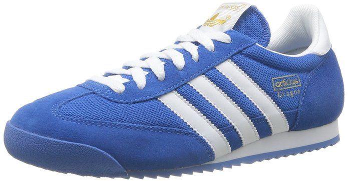 Amazon.com: Adidas Originals Dragon Blue Suede White 2012 Mens ...
