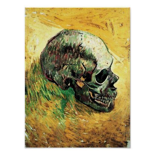 Post-Impressionism vanitas skull, Vincent van Poster
