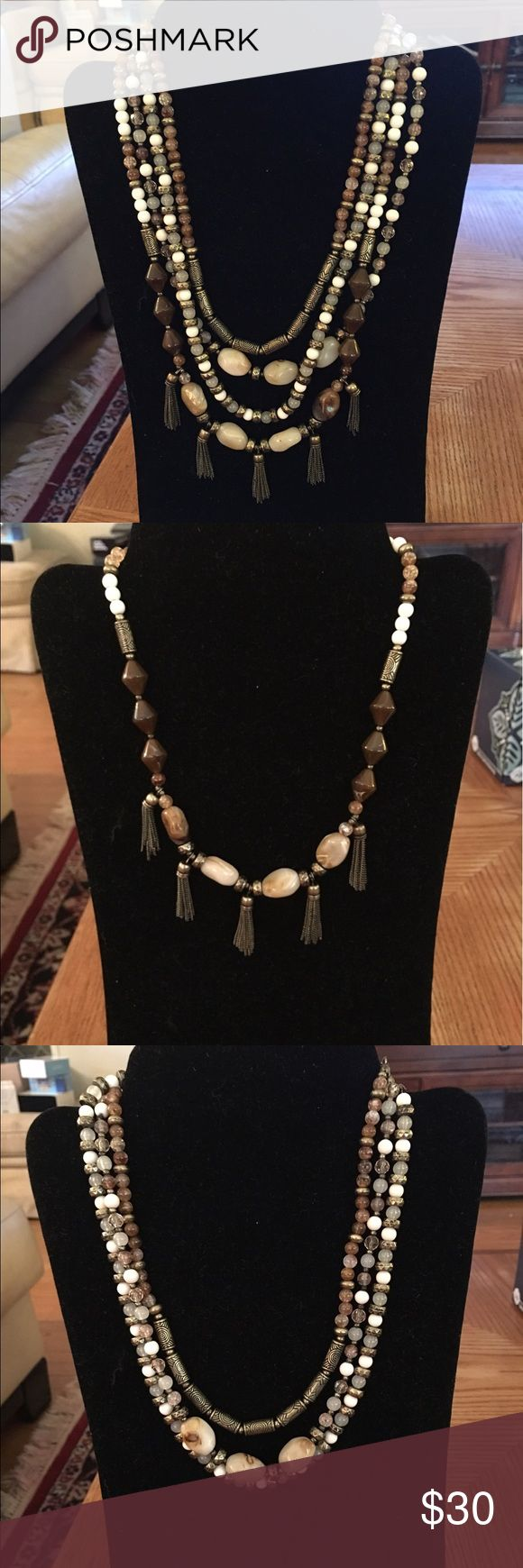 NIB. Premier Designs New Neutrals Necklace $30 NIB. Premier Designs New Neutrals Necklace $30. Price is Firm. No Trades Please. I do Bundle. I ❤️this necklace too. It was a Best Seller for me as well! Pairs well with the Jane Earrings I have listed as well. Premier Designs Jewelry Necklaces