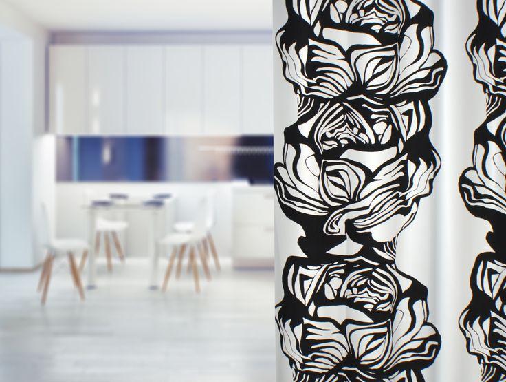 Modernin keittiön kruunaa Irina Ylänteen suunnittelema Villiruusu.