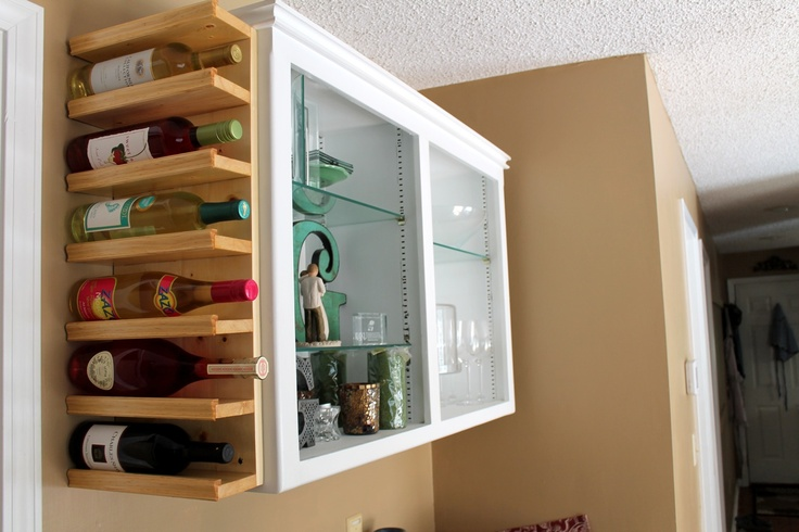 17 best ideas about homemade wine racks on pinterest for Other uses for wine racks in kitchen
