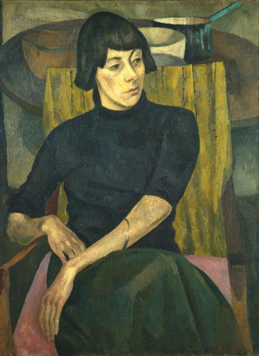 1917 portrait of Nina Hamnett painted by Roger Fry (Courtauld Gallery, London).