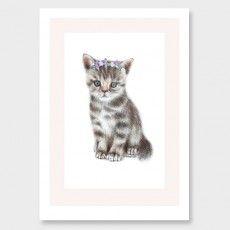 Kitten Art Print by Olivia Bezett