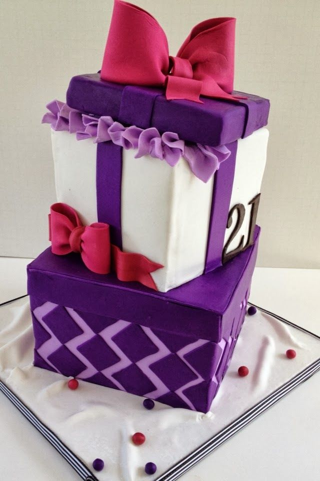 80 best gift box cakes images on pinterest amazing cakes petit gift box cake this cake was created for a birthday celebration i used a few useful tutorials to create the bows one was by lesley at the royal bakery negle Choice Image