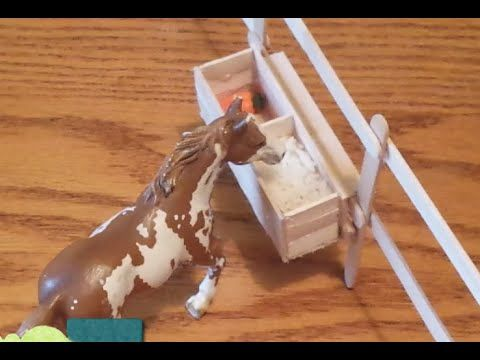 How To Make A Schleich Horse Feeding Trough Video Mini