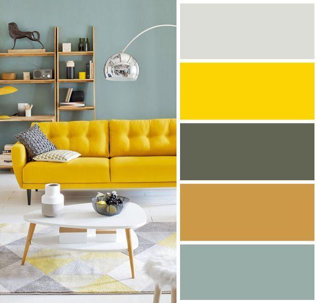 Mid Century Modern Color Scheme Zhizneradostnaya I Appetitnaya Cvetovaya Palitra V Stile Living Room Color Schemes Yellow Living Room Paint Colors For Living Room Concept living room furniture color