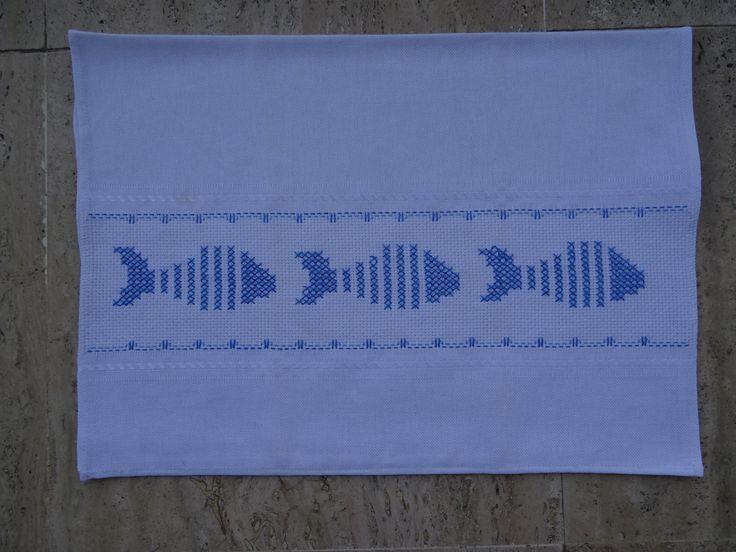 Cross-stitch fish!