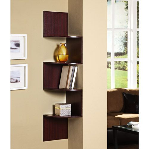 4d concepts wallmounted corner storage chocolate