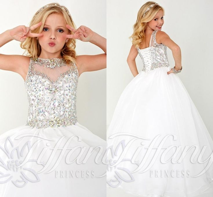 2016 New Cheap Flower Girls Dresses For Weddings Lace Illusion White Jewel Neck Sweep Train Party Birthday Dress Children Girl Pageant Gowns Girl Dresses For Wedding Girls Flower Dresses From Yes_mrs, $80.41| Dhgate.Com