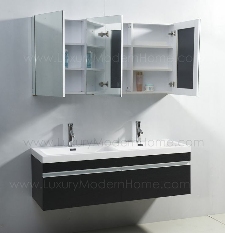 17 Best Images About Vanity Sinks Alexius Black Wall Mount Hung On Pinterest Small Bathroom