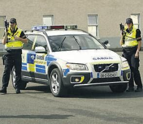 Identification- Police or Garda as their called in Ireland were neon jackets with black pants, they drive white cars with markings or silver undercover cars, the police are not aloud to carry guns unless athourized by Gov't