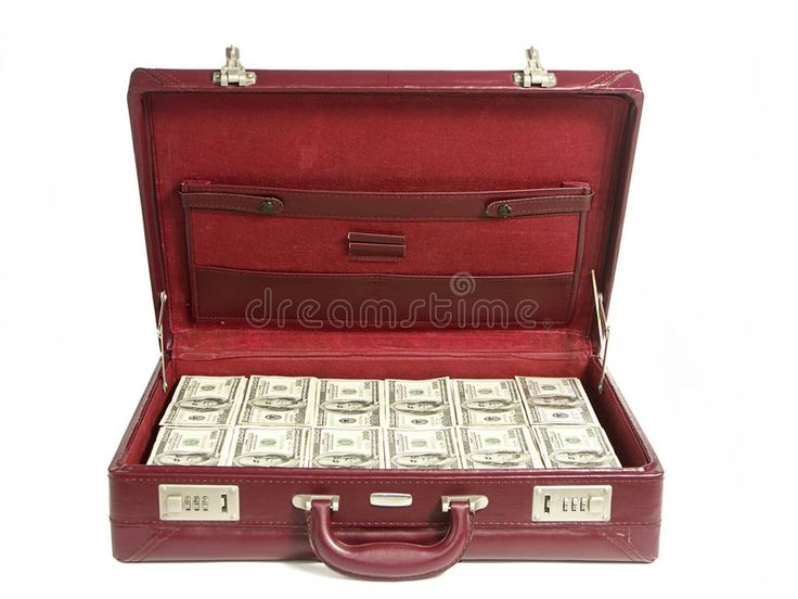 Cash prize. Briefcase stuffed with one hundred dol…