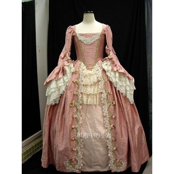Marie Antoinette FRENCH 18TH CENTURY VICTORIAN DRESS Halloween costume... ❤ liked on Polyvore featuring costumes, victorian halloween costumes, marie antoinette halloween costume, victorian costumes and marie antoinette costume