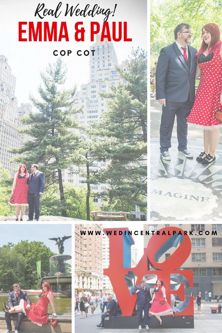 Emma and Paul's Elopement wedding in Cop Cot, Central Park, New York