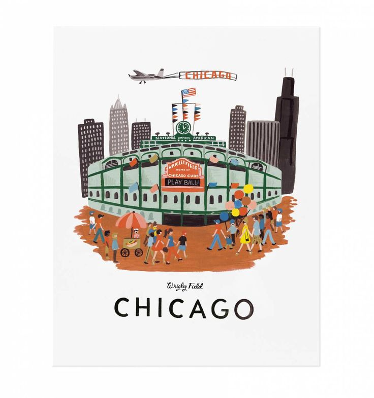 Chicago Illustrated Art Print | Rifle Paper Co.