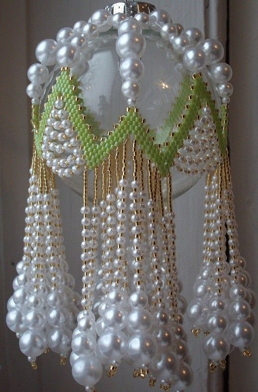 Free Beaded Victorian Ornaments Patterns | LIME RICKEY Beaded Ornament Cover EPattern by cathylikestocraft