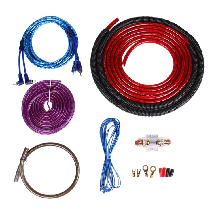 Genuine 4 Gauge (AWG) Amp Kit Power Cable and Wiring for Car Amplifier Installation Complete 4 Gauge Amplifier Installation Wiring Kit High Performance RCA Interconnect