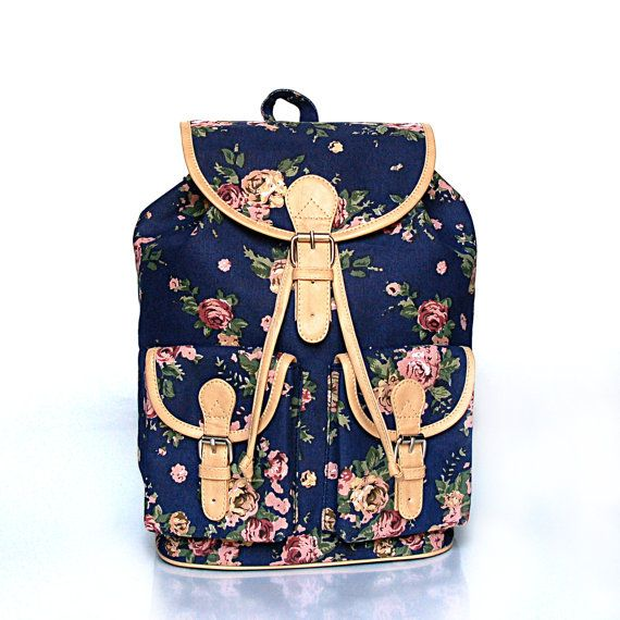 Hey, I found this really awesome Etsy listing at http://www.etsy.com/listing/150058937/blue-floral-backpack