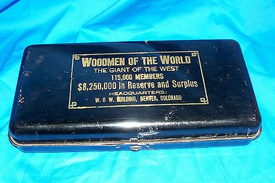 Old woodmen of the #world #moneybox bank vintage tin #money box frat #modern ameri,  View more on the LINK: 	http://www.zeppy.io/product/gb/2/301652936714/