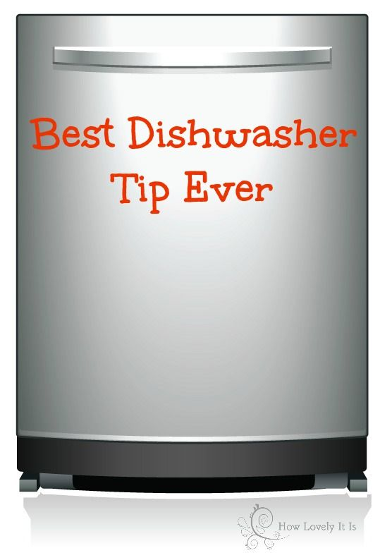 "Best dishwasher tip ever: one level TBSP of citric acid divided between soap compartments along with a regular dish washer soap block thingy ~ VOILA! Spotless dishes every time. Get citric acid in bulk at a whole foods store "")"